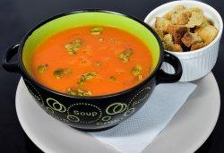 Supa crema de dovleac cu crutoane