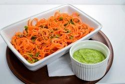 Spaghetti din morcovi cu sos
