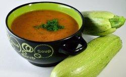 Supa crema de dovlecel cu crutoane
