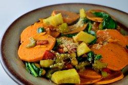 Mix de legume cu anghinare la cuptor