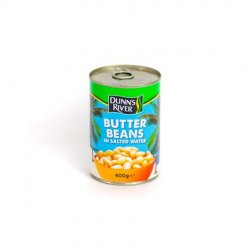Dr butter beans in salted water