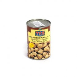 Trs boiled chick peas in salted water